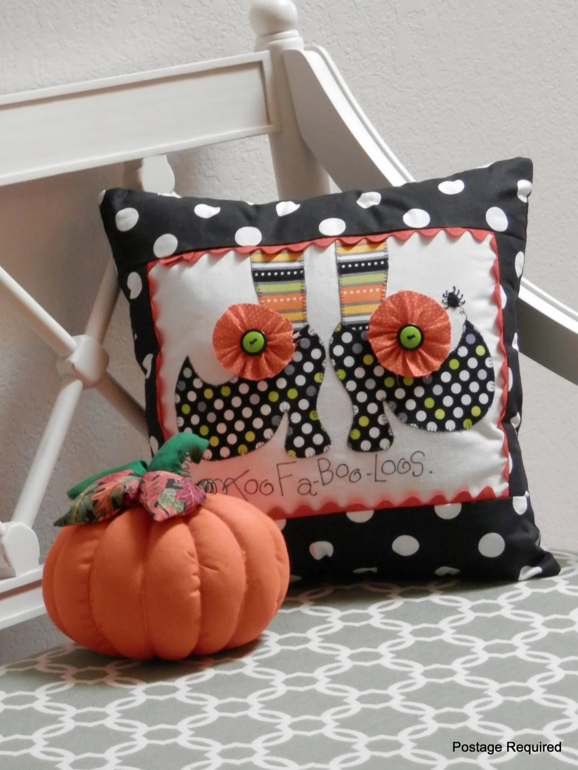 Halloween Decorative Witch Shoe Pillow