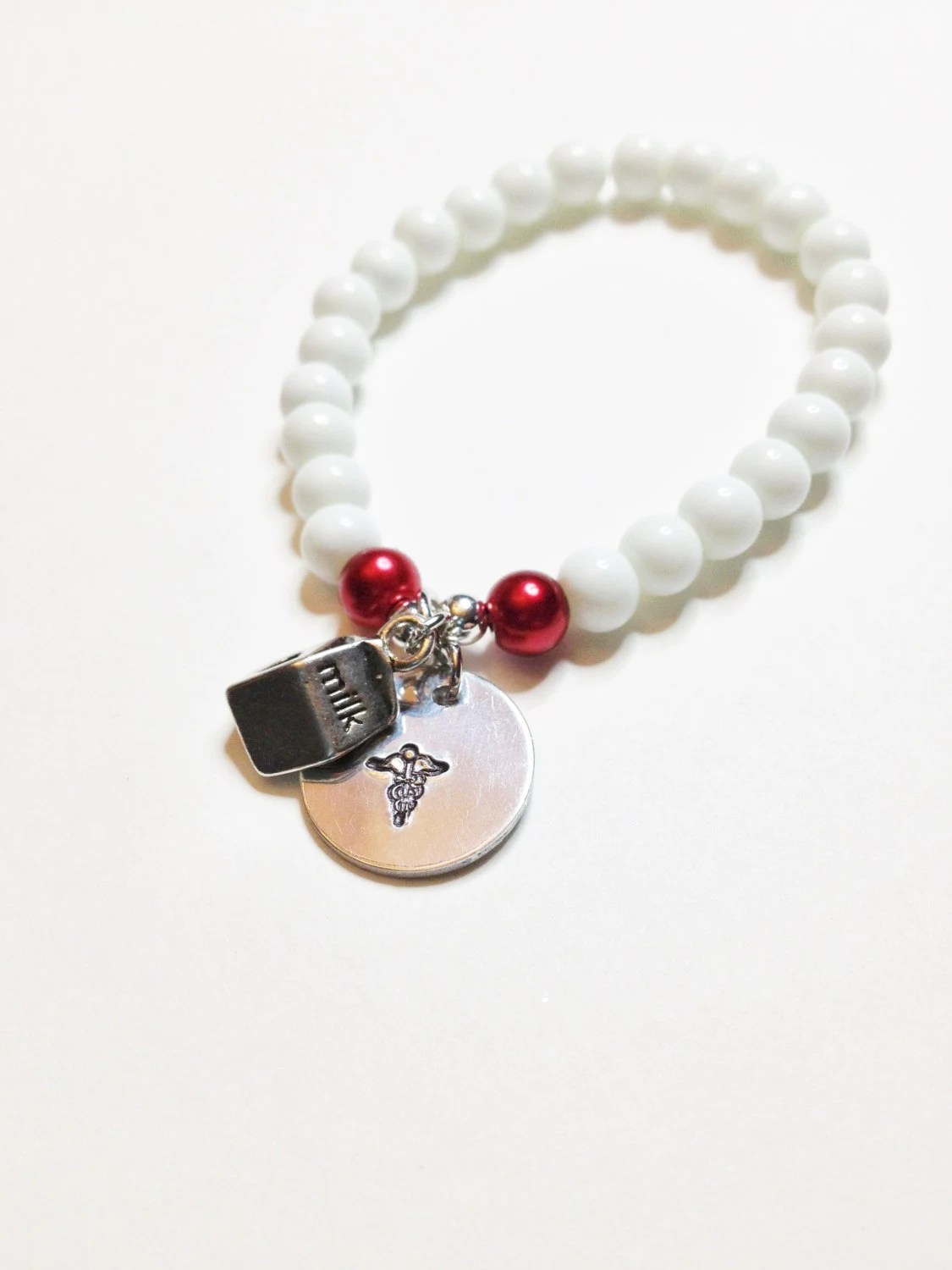 Customized Allergy Alert Bracelet Nut Allergy by IcyCoolCreations