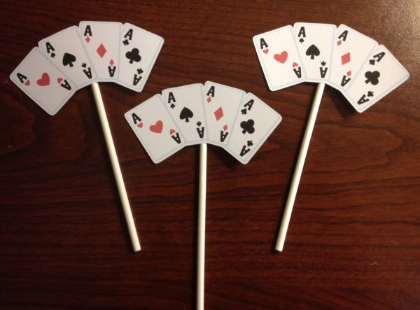 Casino Night Cupcake Toppers Set Of 12 2creativegirls