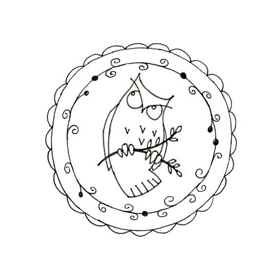 Owl Printable Embroidery Pattern Woodland by