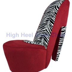 Red Heel Chair Office For Tall Person And Zebra High Shoe By Highheelshoechaircom