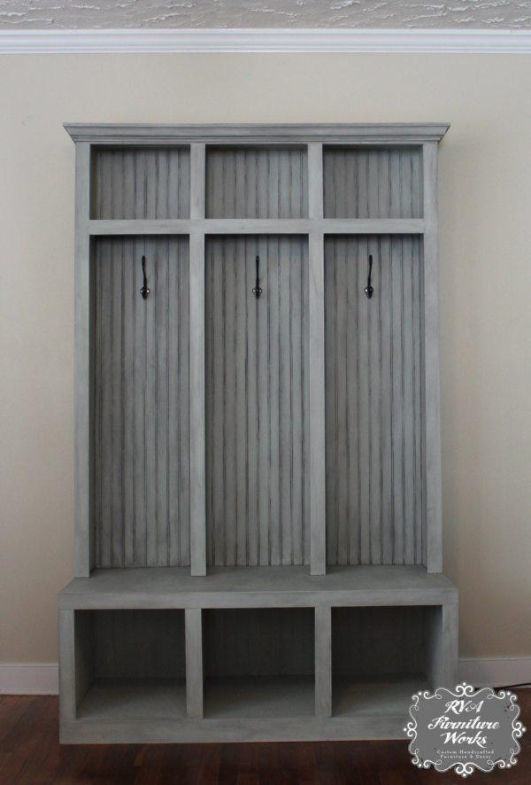 Entryway Mudroom Locker & Bench 3 Lockers