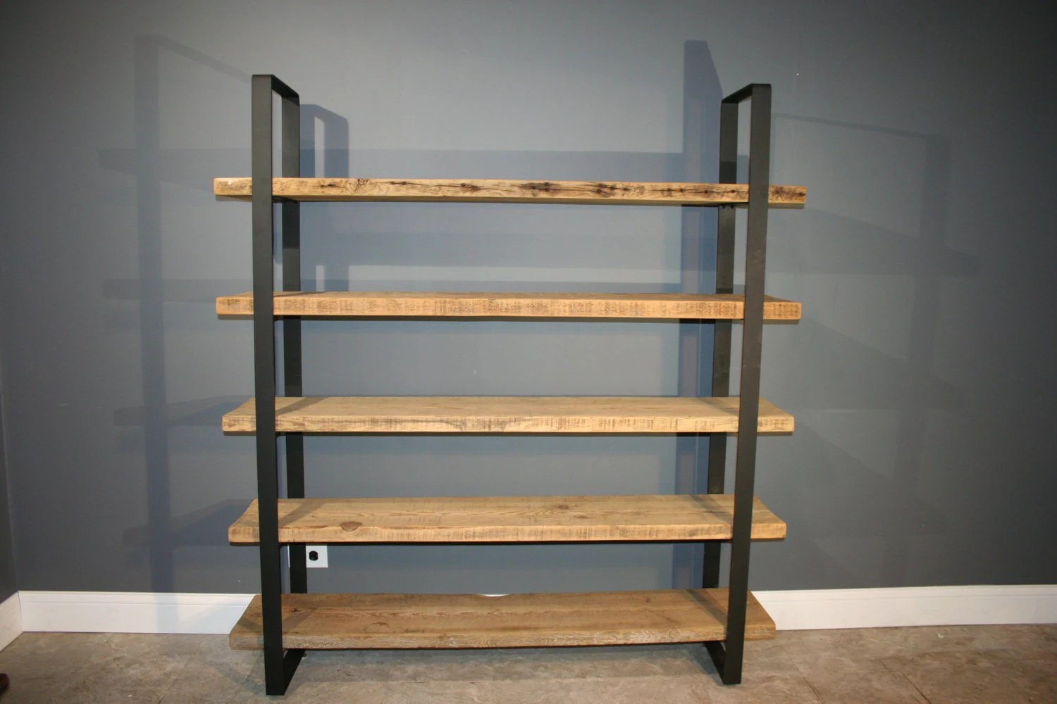 Reclaimed Wood Shelf/Shelving Unit With 5 By