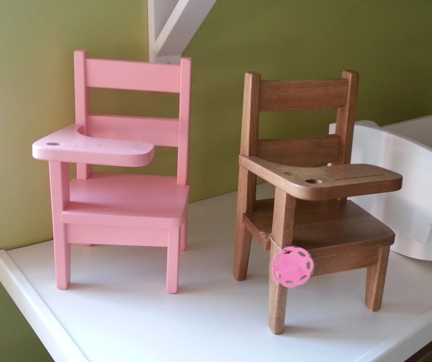 girls desk with chair steel vintage wooden school doll 18 amish by