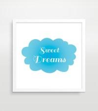 Sweet Dreams Nursery Decor Kids Wall Art Nursery Art