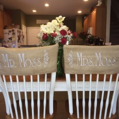 Burlap Chair Covers Ideas Folding Umbrella Clamp Monogrammed Wedding By