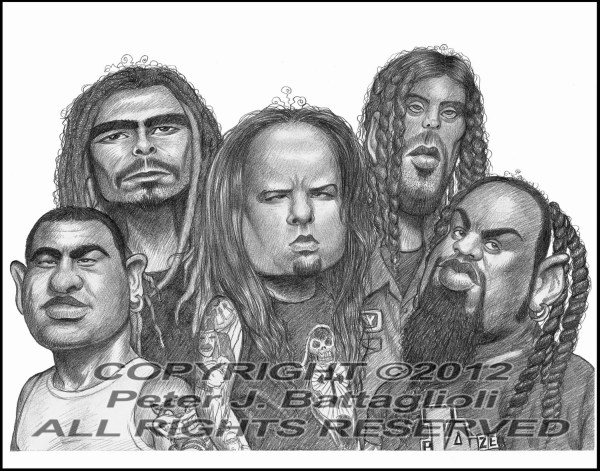Korn Caricature Art Poster Print Limited Edition