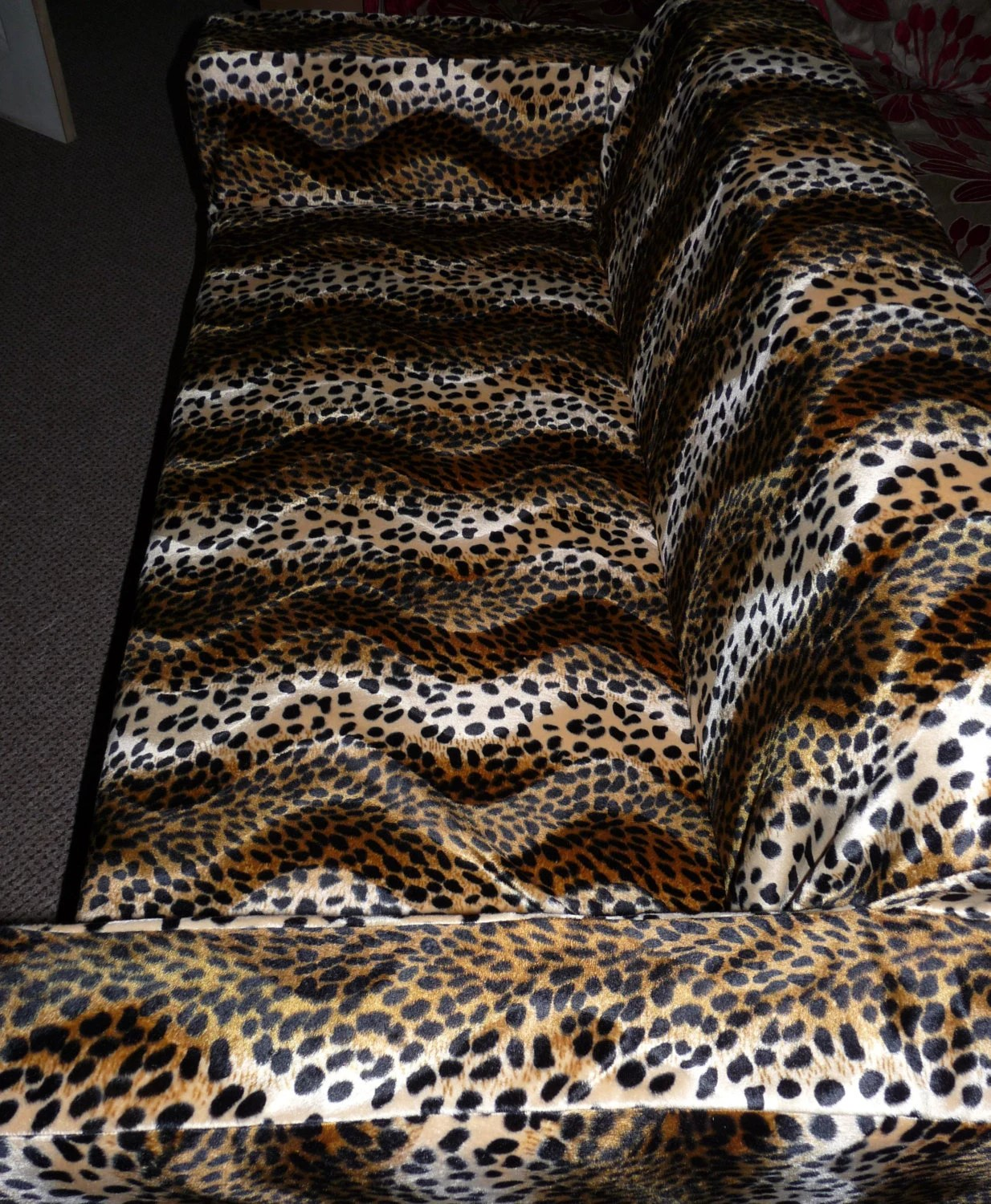 faux fur chair cover balloon for sale slip to fit the ikea klobo sofa in animal print