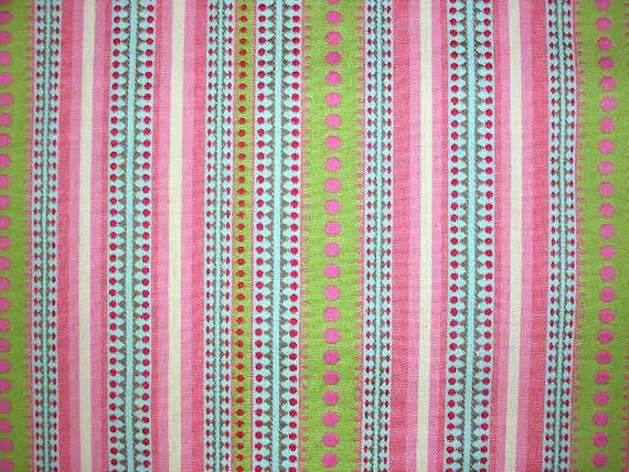 Candy Stripe Multicolored Fabric