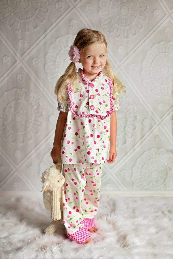 PDF Sewing Pattern Claire Girls Pajamas Nightgown Top