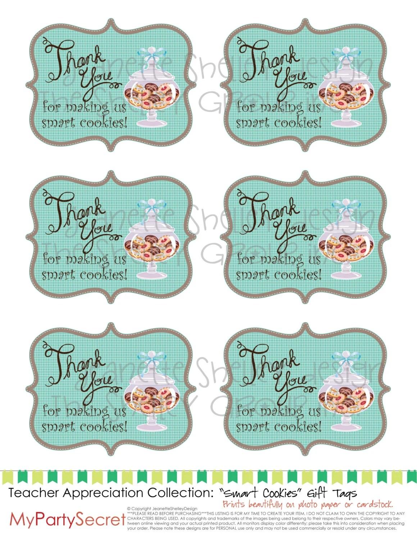 Diy Printable Teacher Appreciation Smart Cookies