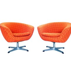 Mid Century Modern Accent Chair Orange Baby Blue Spandex Covers Reserved Pair Of Overman Pod