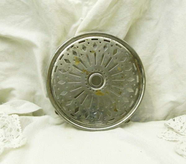 Antique French Metal Trivet / Hot Plate / Heat Mat / Cottage