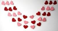 Valentines day heart garland Red pink heart garland