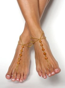 Gold Barefoot Sandals Bohemian Foot Jewelry Anklet