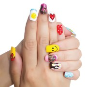 fingernail nail wraps - trendy
