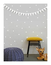White Dot Wall Decals Polka Dots Wall Stickers Nursery Wall