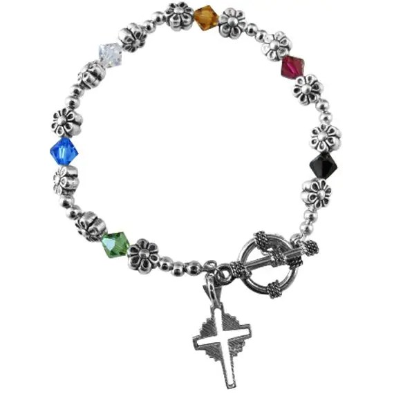 Items similar to Sterling Silver Cross Salvation Bracelet