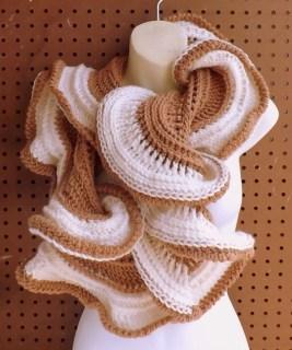 LATTE Crochet Infinity Cowl Scarf