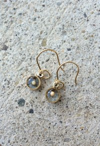 Mustard Seed Earrings Faith and Change Bronze and Gold