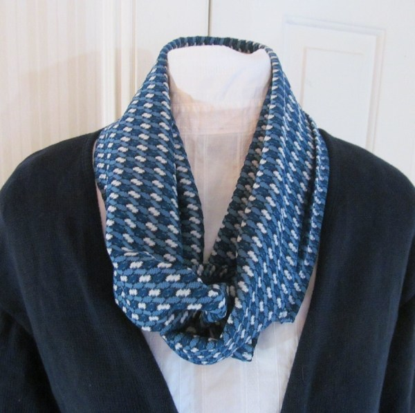 Sky Blue and Royal Blue Infinity Scarf for Men or Women