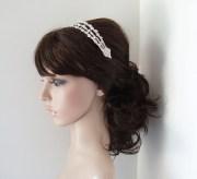 rhinestone wedding headband bridal