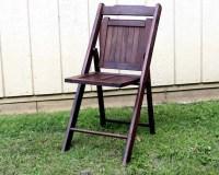 Mid Century Wood Folding Chair / Vintage Folding Chair