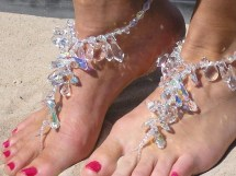 Beach Wedding Barefoot Sandals Feet