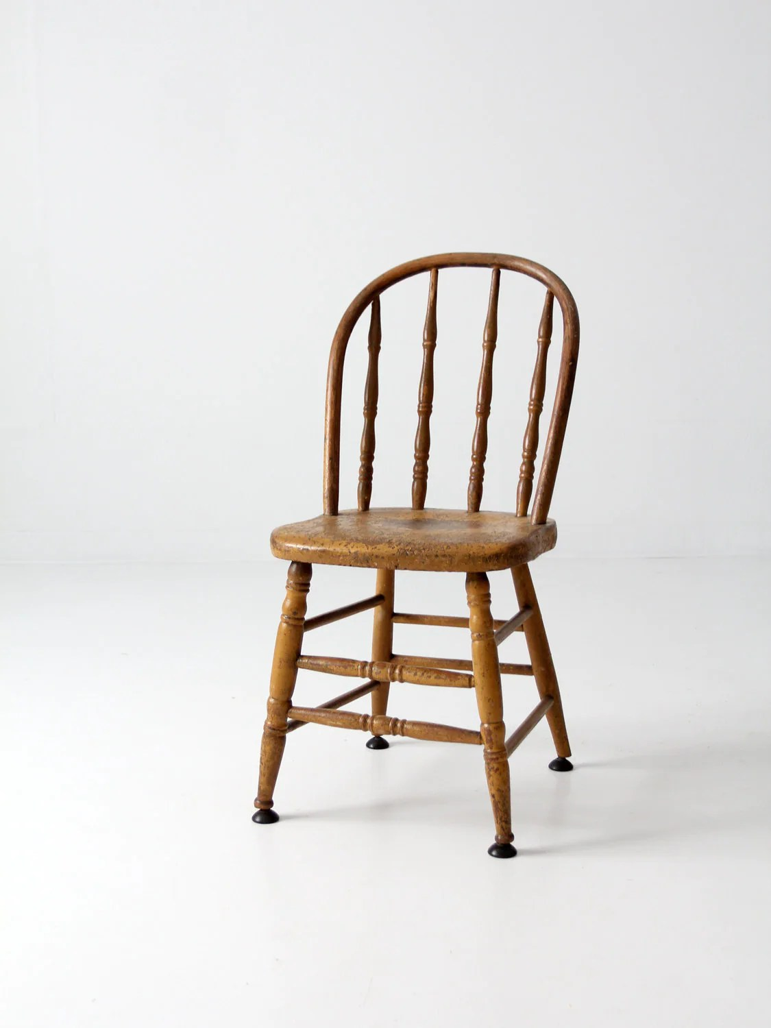 vintage wood spindle back chair painted kitchen chair