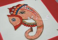 Custom Handmade Paper Quilling Lord Ganesha Framed Wall Art