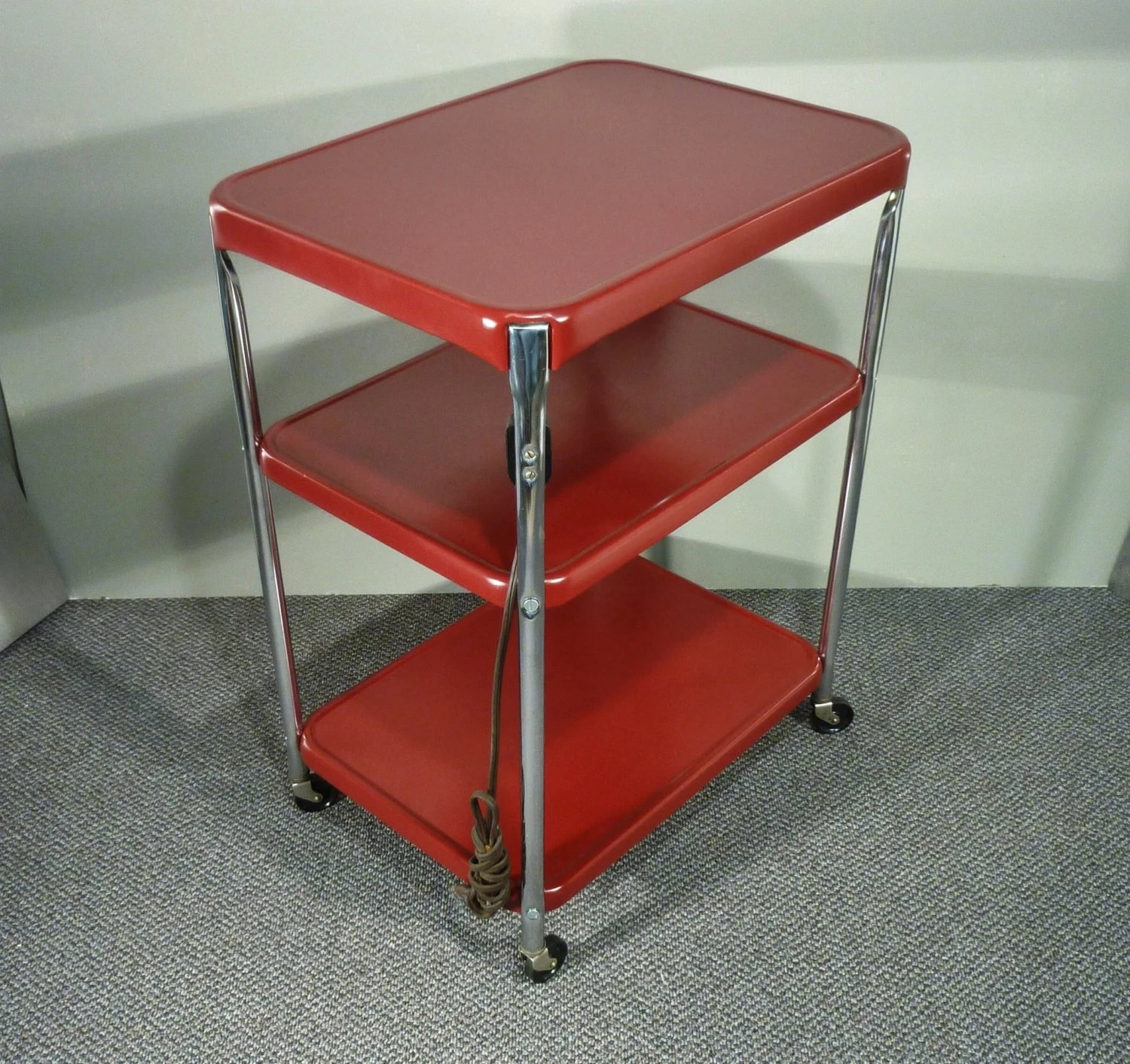 cosco kitchen stool chair steel with pad upcycle metal cart vintage rolling