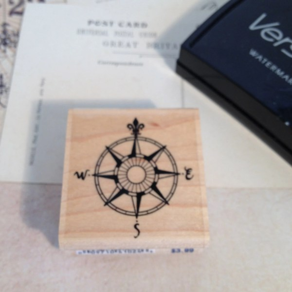 Compass Steampunk Stamp Rubber