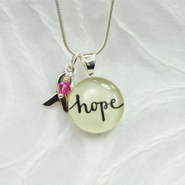 Breast Cancer Jewelry Awareness Necklace Hope