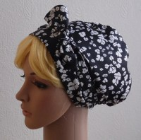 silk head scarves for natural hair black and white satin ...