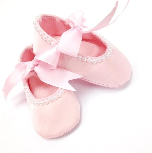 Items similar to Pink Baby Girl Shoes, Newborn Baby shoes