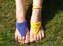 Knitting Pattern Pdf Barefoot Sandals Bottomless Flip-flops