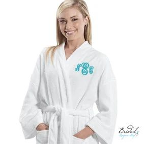 monogrammed terry cloth robe