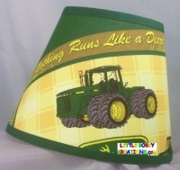 Coutnry Tractor Fabric Lamp Shade 10 Shades to Choose From