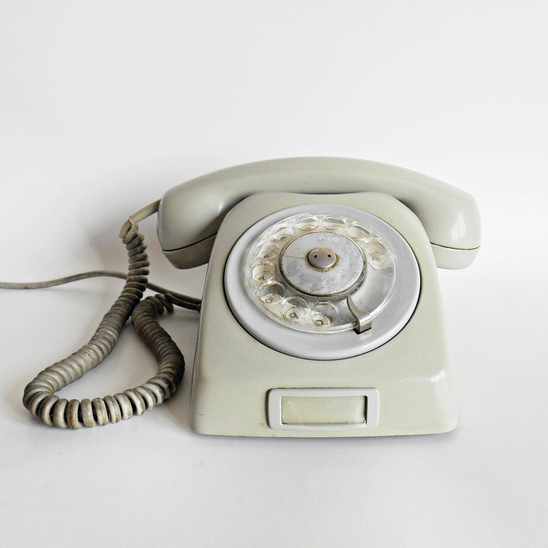 vintage rotary gray telephone vintage telephone rotary phone vintage grey telephone gray. Black Bedroom Furniture Sets. Home Design Ideas