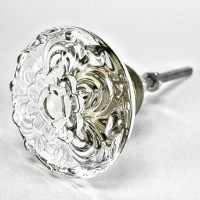 Items similar to Set/8 Daisy Glass Cabinet Knobs, Kitchen
