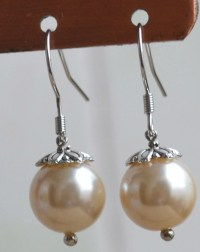 Champagne Pearl earringsglass pearl earrings earringsdangle