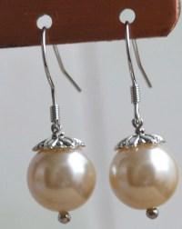 Champagne Pearl earringsglass pearl earrings earringsdangle
