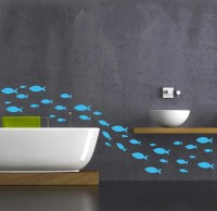 Bathroom wall decal Fish decal by newpoint on Etsy