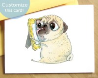 I Miss You Card Cute LDR card Thinking of You Card I by Inkpug
