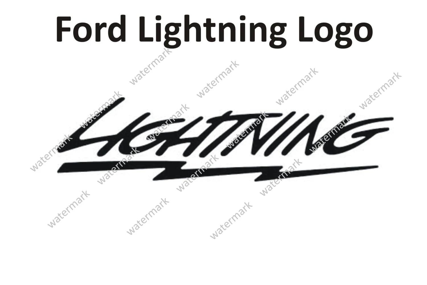 Ford Lightning Supercharged Decal