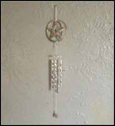 wind wiccan witch wicca pagan outside pentacle chime