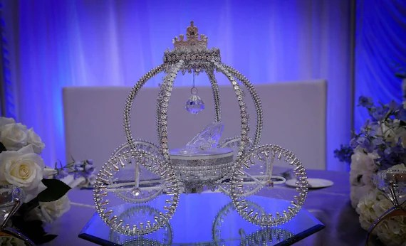 Cinderella Carriage Cake Topper Centerpiece By DollyDollz