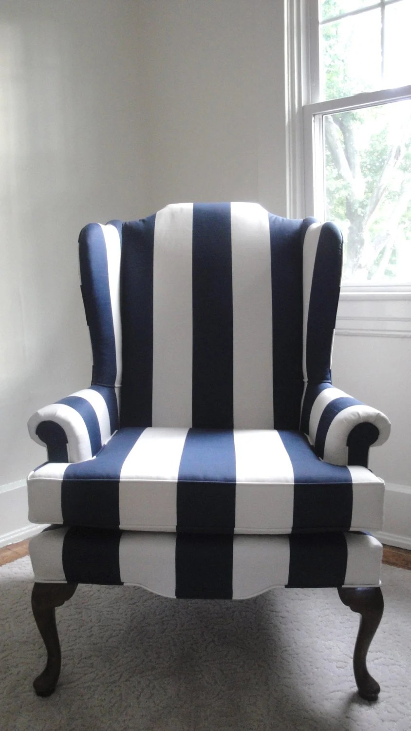 Striped Navy Chair