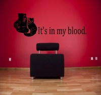 It's in my blood boxing wall decal sports decals boxing