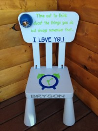 SALE Personalized Time Out Plastic Chair With Working Timer